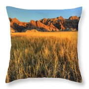 Beauty Of The Badlands Throw Pillow