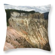 Beauty Of The Grand Canyon In Yellowstone Throw Pillow