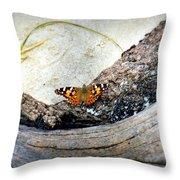 Beauty On The Beach Throw Pillow by Karen Wiles