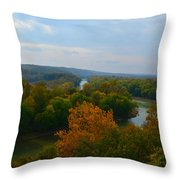 Beauty On The Bluffs Autumn Colors Throw Pillow