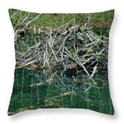 Beaver House Throw Pillow
