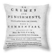 Beccaria: Title Page Throw Pillow