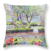 Bed And Breakfast View Throw Pillow