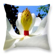 Bed Of Magnolia Throw Pillow
