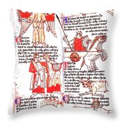 Bedes Constellations Throw Pillow by Science Source