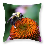 Bee-ing Happy Throw Pillow
