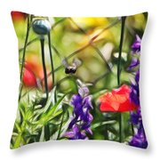 Bee Right There Throw Pillow