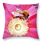 Bee The One Throw Pillow