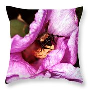 Bee There Throw Pillow