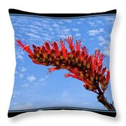 Bee With Red Flower 1 Throw Pillow