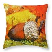 Beechnuts Throw Pillow
