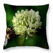 Beeflower2 Throw Pillow