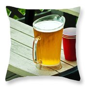 Beer 30 Now Throw Pillow