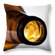 Beer Bottle Neck 1 B Throw Pillow