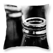 Beer Bottles Throw Pillow