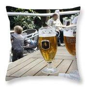 Beer-mania Throw Pillow