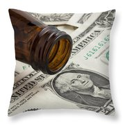 Beer Money 1 A Throw Pillow