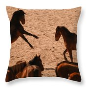 Before The Herd Throw Pillow