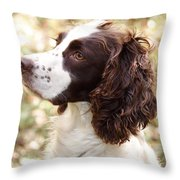 Before The Hunt - English Springer Spaniel Throw Pillow