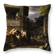 Beggar Throw Pillow