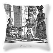 Beggar, C1830 Throw Pillow
