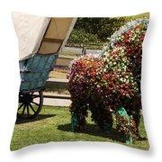 Begonia Horse Throw Pillow