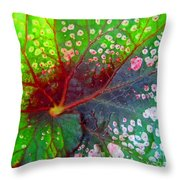 Begonia Leaf Throw Pillow