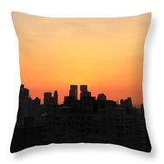 Behind The Building Throw Pillow