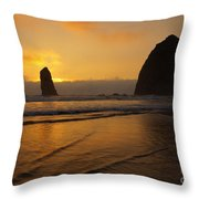 Behind The Needles Throw Pillow