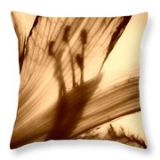 Behind The Petals Subdued Throw Pillow