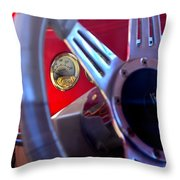 Behind The Wheel Of A 1940 Ford Throw Pillow