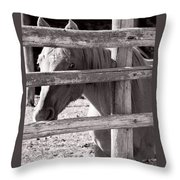 Being Cautious Throw Pillow