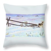 Being The Fence Throw Pillow