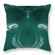 Bejeweled With Wings Throw Pillow