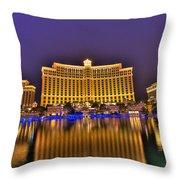 Belagio Las Vegas Throw Pillow by Nicholas  Grunas