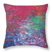 Belief In Cool Fire Throw Pillow