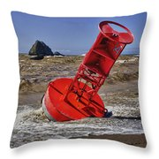 Bell Buoy Throw Pillow by Garry Gay