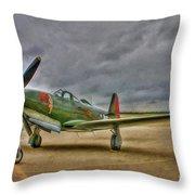 Bell P-63 Kingcobra Throw Pillow