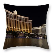 Bellagio And Ceasars Throw Pillow