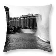 Bellagio Fountains II Throw Pillow