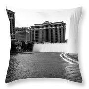 Bellagio Fountains Throw Pillow