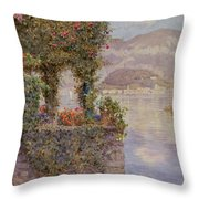 Bellagio From Tremezzo Throw Pillow