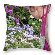 Belle In The Garden Throw Pillow
