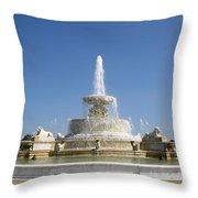 Belle Isle Fountain Throw Pillow