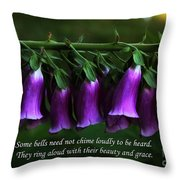 Bells Of Spring Throw Pillow by Olahs Photography