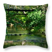 Below The Bridge Is Another World Throw Pillow