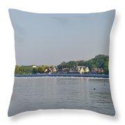 Below The Fairmount Dam Throw Pillow