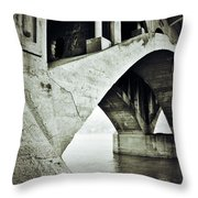 Below The Sinners Sail Throw Pillow