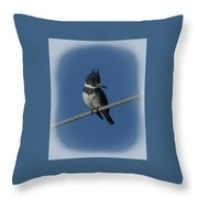 Belted Kingfisher 2 Throw Pillow