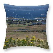 Bembridge Harbour And The Solent Throw Pillow